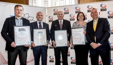 Avízo: Czech Top 100 vyhlásí ve čtvrtek žebříček nejvíce obdivovaných firem v České republice
